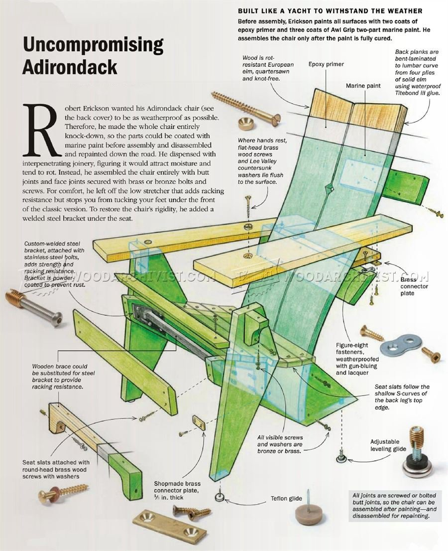 Adirondack Chair Plans  WoodArchivist