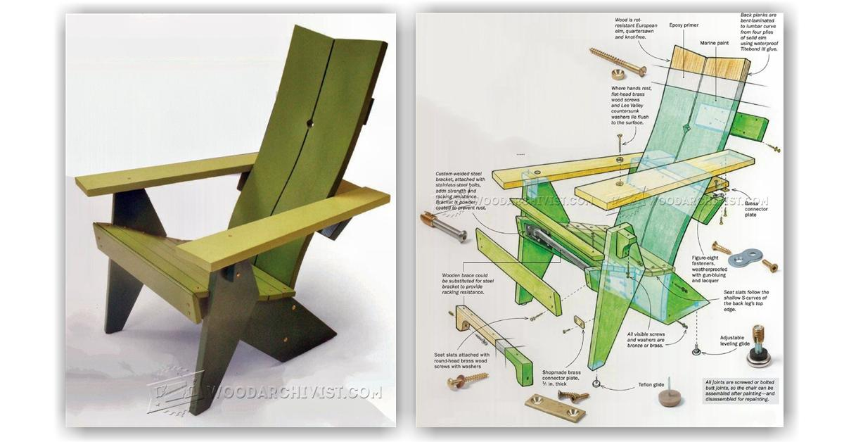 outdoor folding chair with footrest baby bean bag adirondack plans • woodarchivist