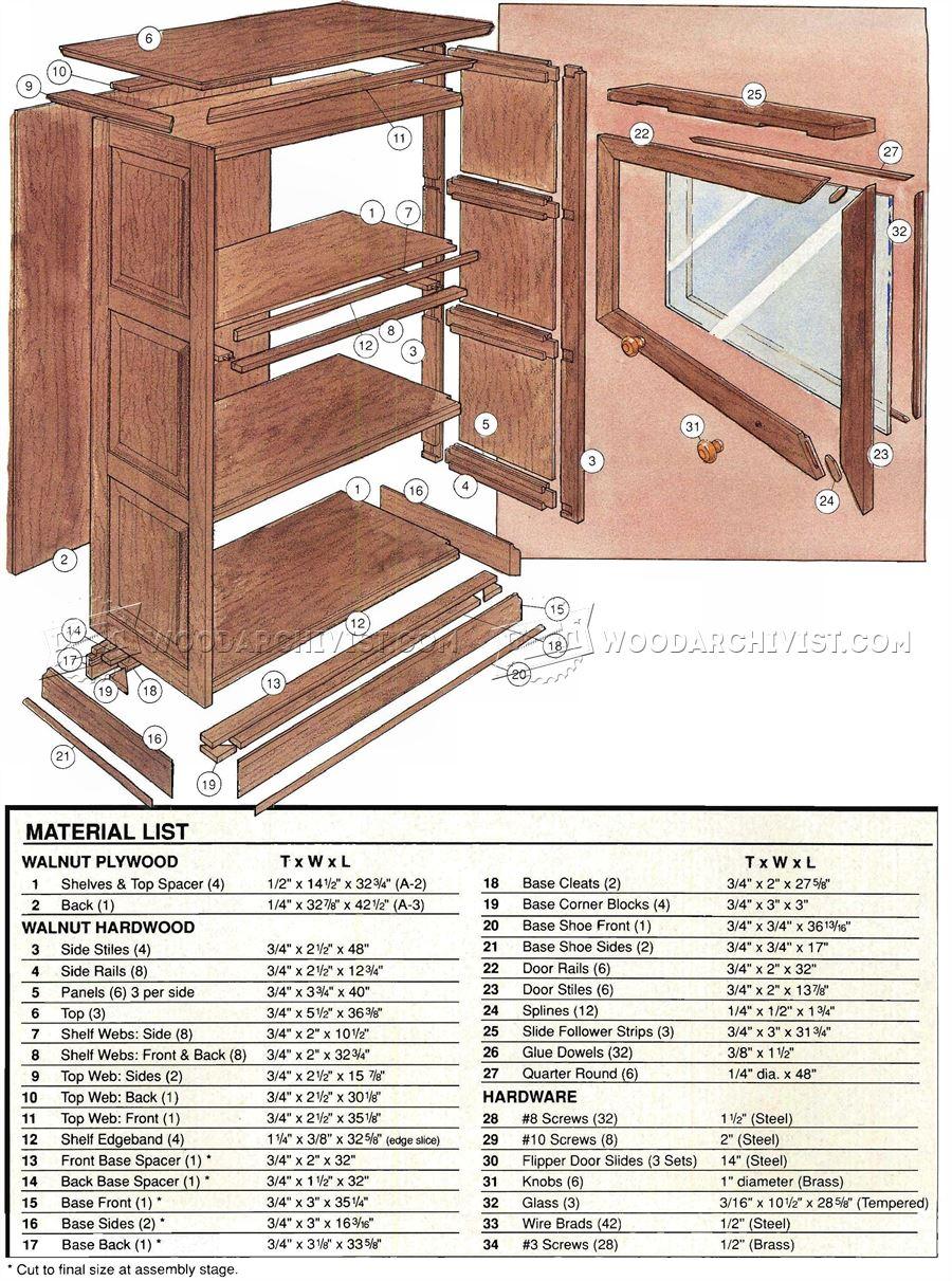 Barristers Bookcase Plans  WoodArchivist