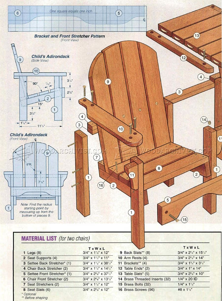 Childrens Adirondack Chair Plans  AdirondackChairsHQcom
