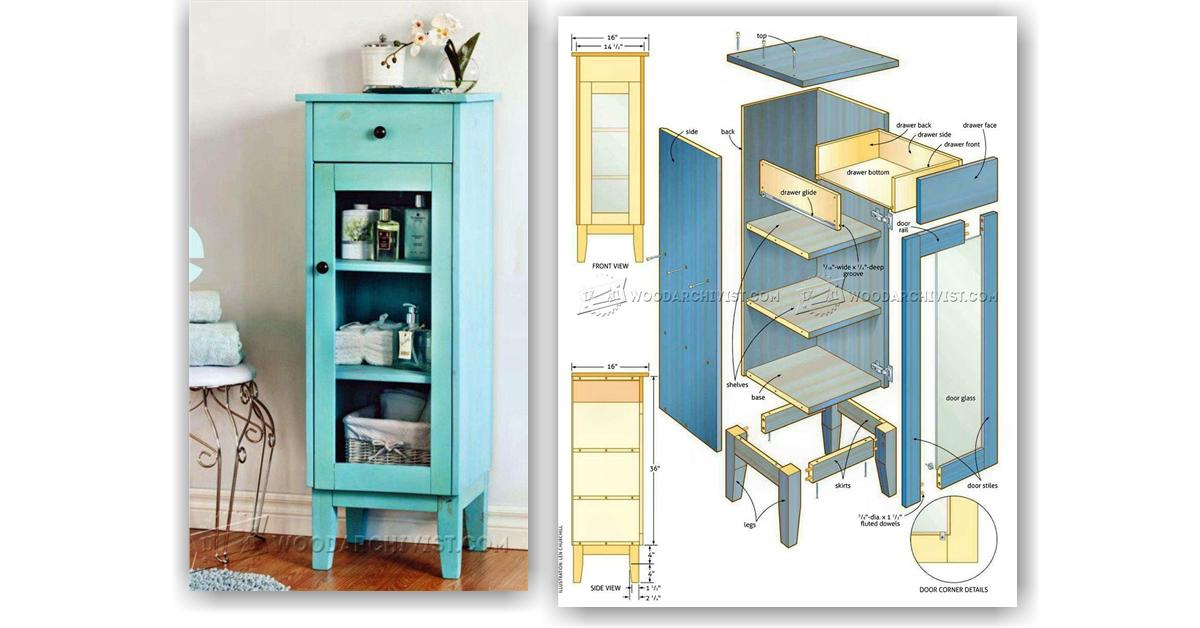 Bathroom Cabinet Plans  WoodArchivist