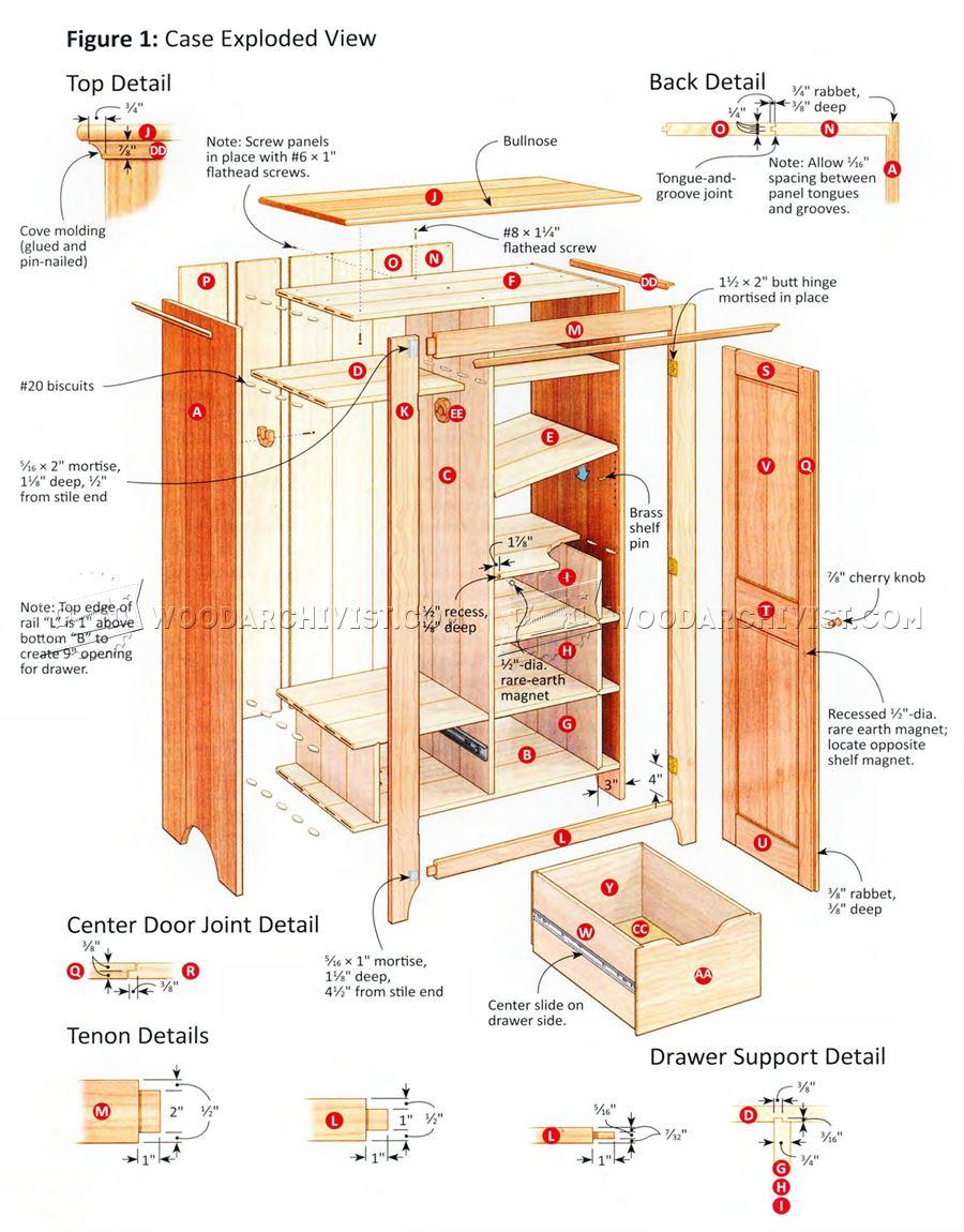 Bedroom Wardrobe Plans  WoodArchivist