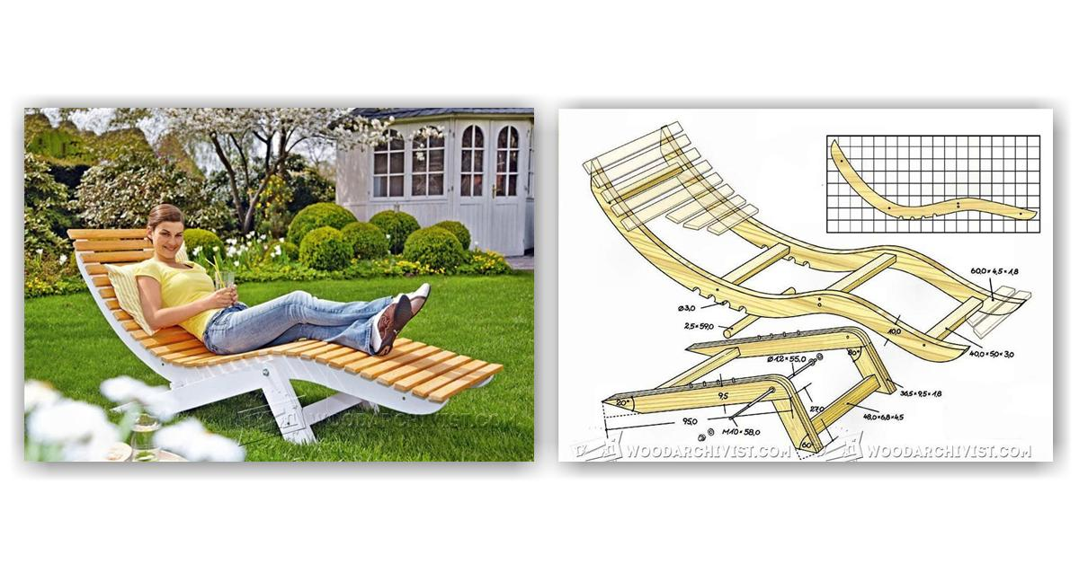 folding outdoor lounge chair seat covers elastic sun lounger plans • woodarchivist