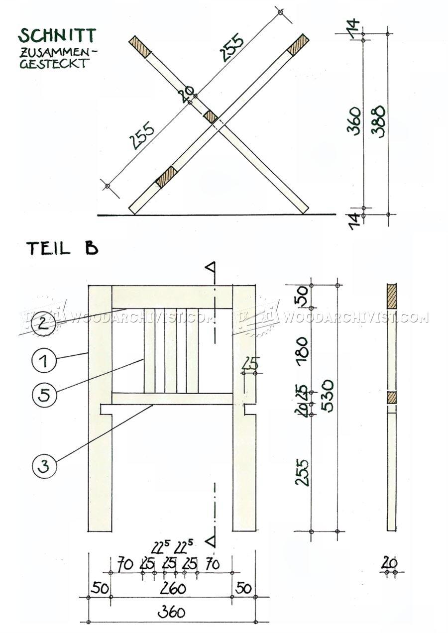 Folding Book Stand Plans • WoodArchivist