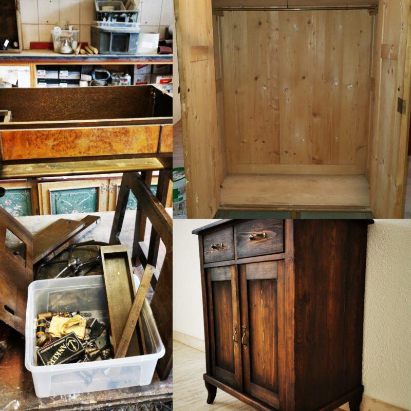 Kommode Möbelrestauration Kleiderschrank Nähmaschine
