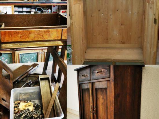 Familienerbstück, Kommode Möbelrestauration Kleiderschrank Nähmaschine