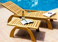 Custom teak and stainless deck lounge chairs and furniture ...