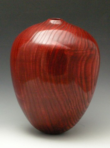 Red on Black Vessel, View 2