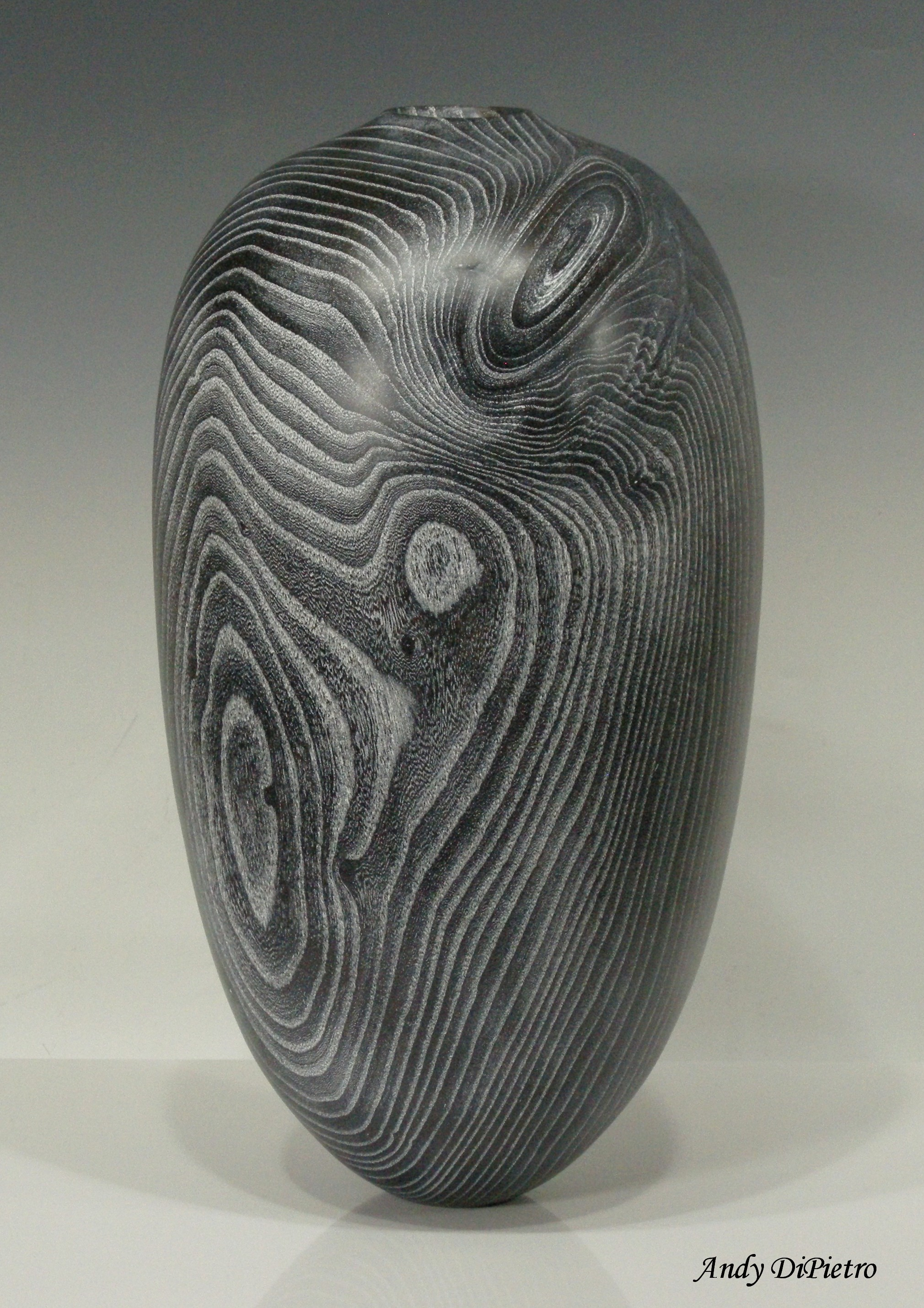 Ash Pinstriped Vessel