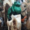 frog wood carving woodbank nurseries