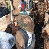pheasant wood carving woodbank nurseries