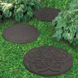 Create beautiful and intricate paths through your garden with these stepping stones. Each one has been designed with a scroll motif, adding an air of wonder and mysticism to your garden, or if you prefer more variety, turn them over for the standard plain stepping stone.