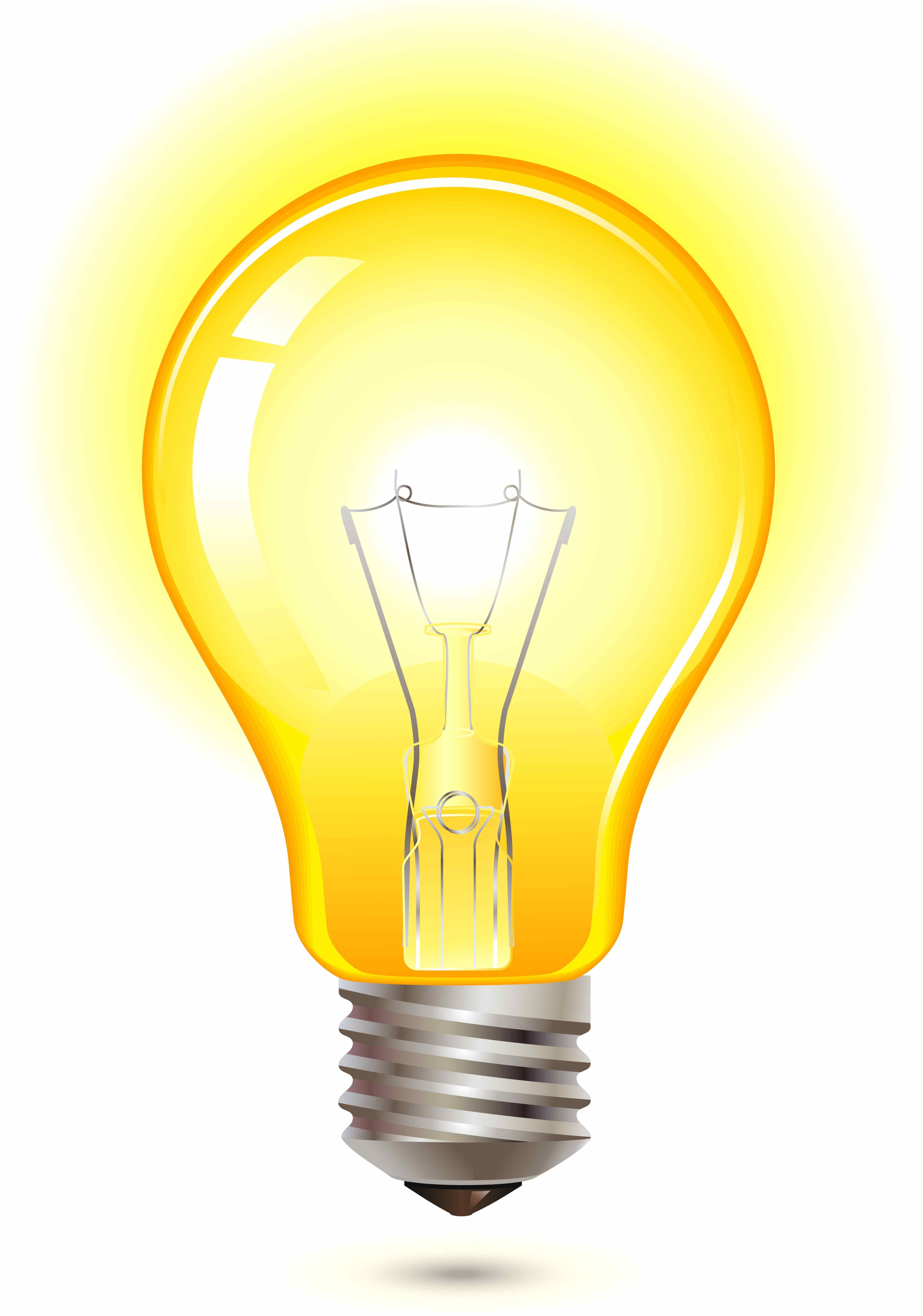 yellow light bulb city