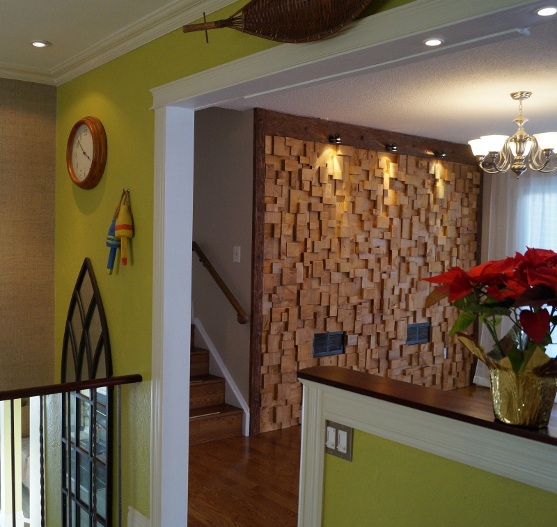 wooden blocks wall