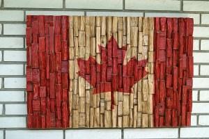 Canadian flag art, Canada Flag recycled wood, Canada 150th anniversary, Canada Flag wood art, Canada 150