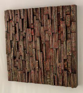 wabi sabi wood art, wood assemblage, recycled wood art, wall art ideas