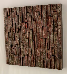 wabi sabi wood art, wood assemblage, recycled wood art, wall art ideas