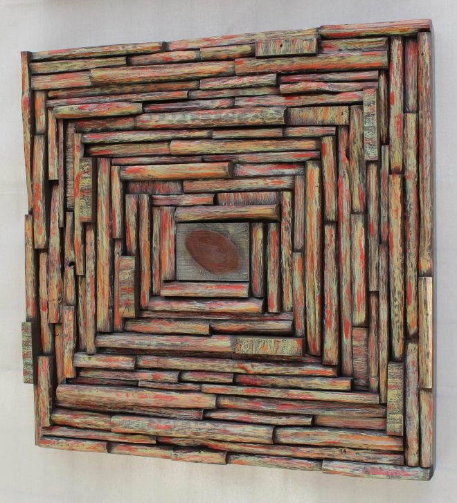 contemporary wood art, wood wall art, wood interior ideas