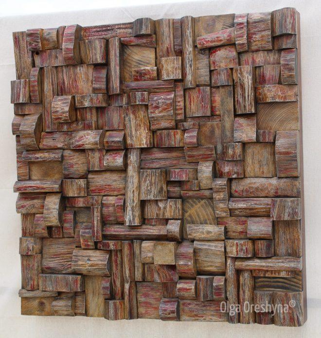 wood art, art sound diffuser, wood wall art, acoustic treatment