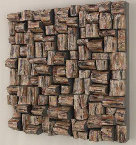 wood art, acoustic panels, wood sound diffuser, contemporary wood art, wood wall art, audio diffuser, wood blocks panel, interior design