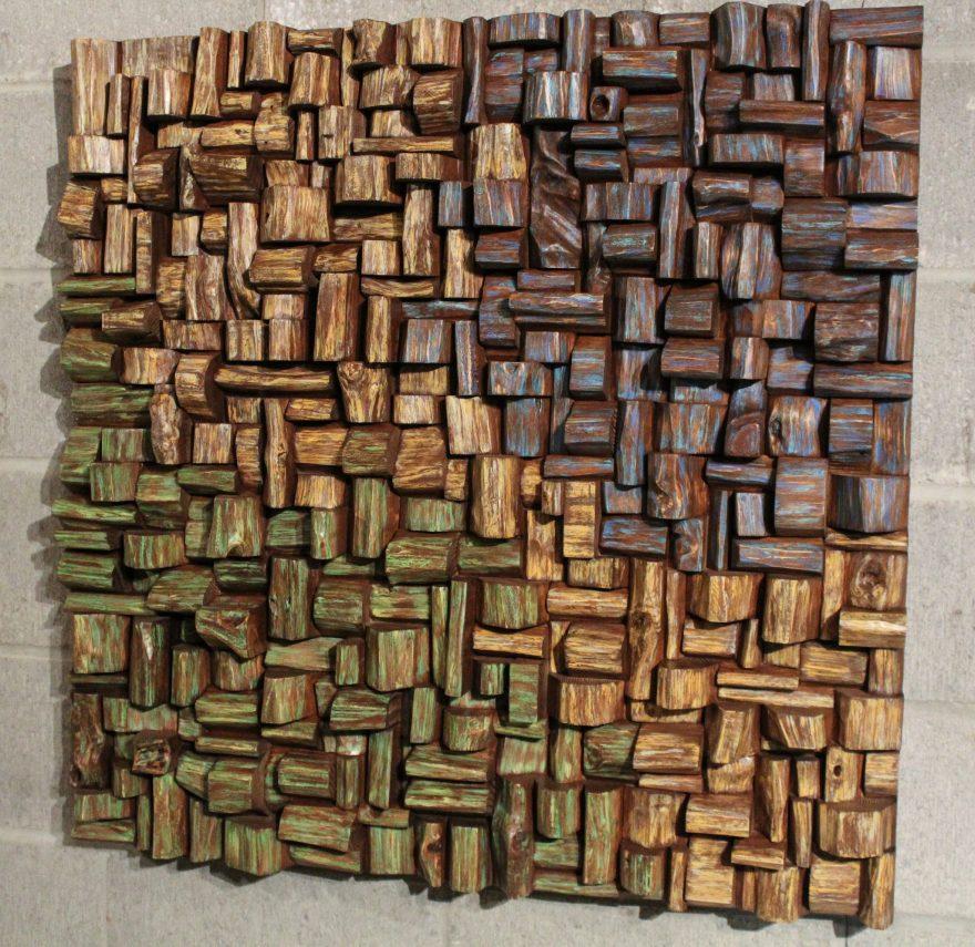 acoustic panel, wood art, interior art, wood art sound diffuser, corporate art, nature art, art acoustic, acoustic treatment, office art