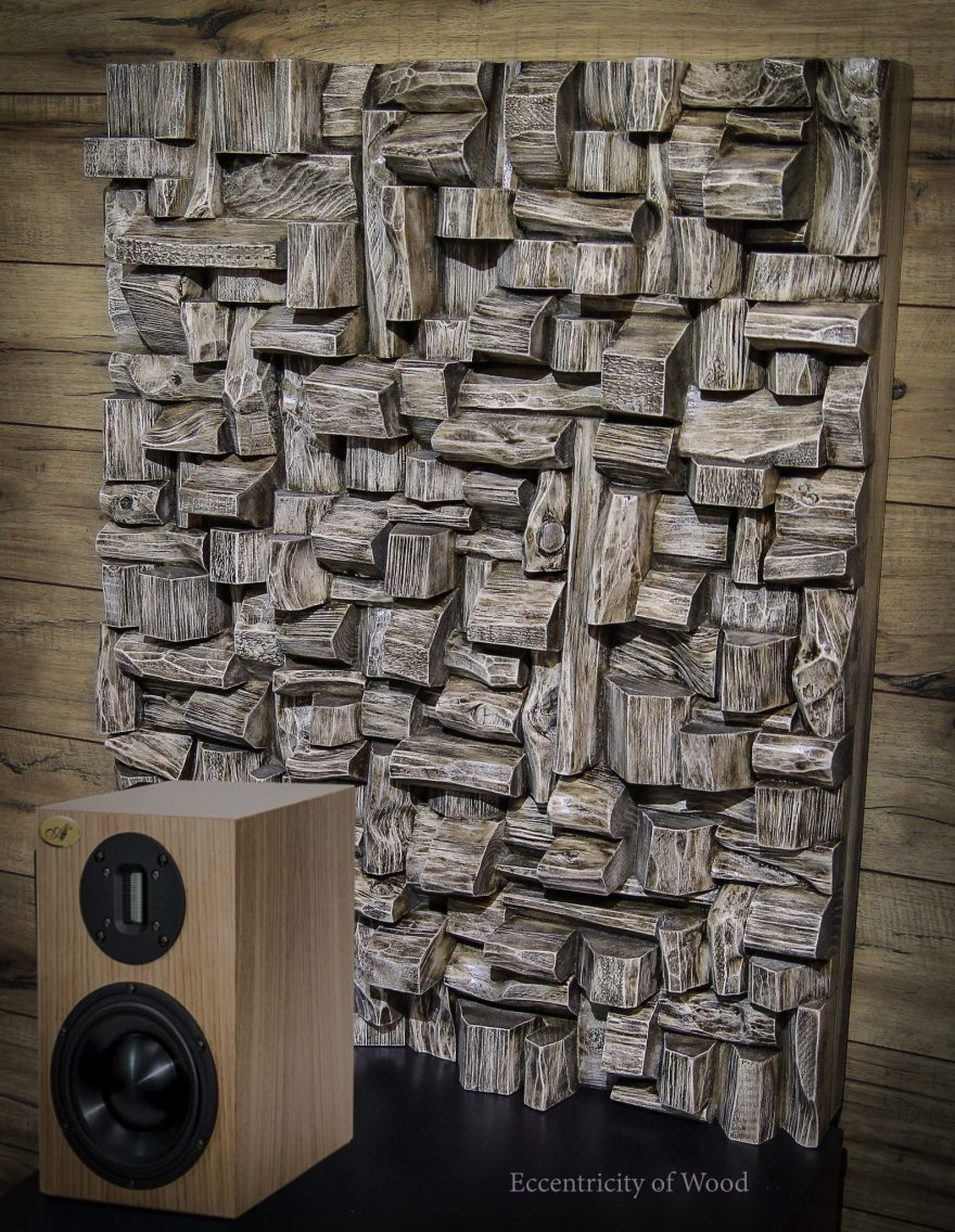 Acoustic Wood Wall Art - Innovative Acoustic Solution. An extraordinary piece of Art will make a statement and create unique visual impact in your home or office while improving sound quality.