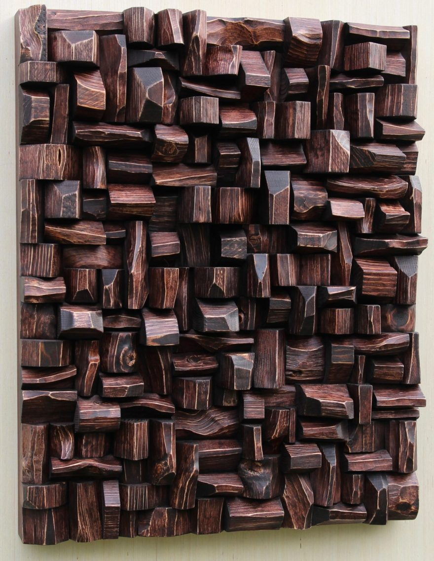 wood wall art, wood blocks assemblage, recycled wood art, wood blocks panel, wood interior design, home decor, 3d art, contemporary wood art, eccentricity of wood, Olga Oreshyna Art, textured art, wall hanging art, wall art ideas, cottage art, eco design