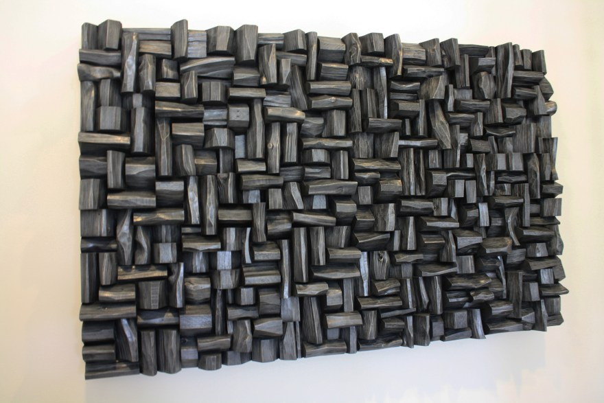 Recycled wood art acoustic panels with unique and innovative sustainable design will distinguish and highlight your place, and improve sound quality at the same time.
