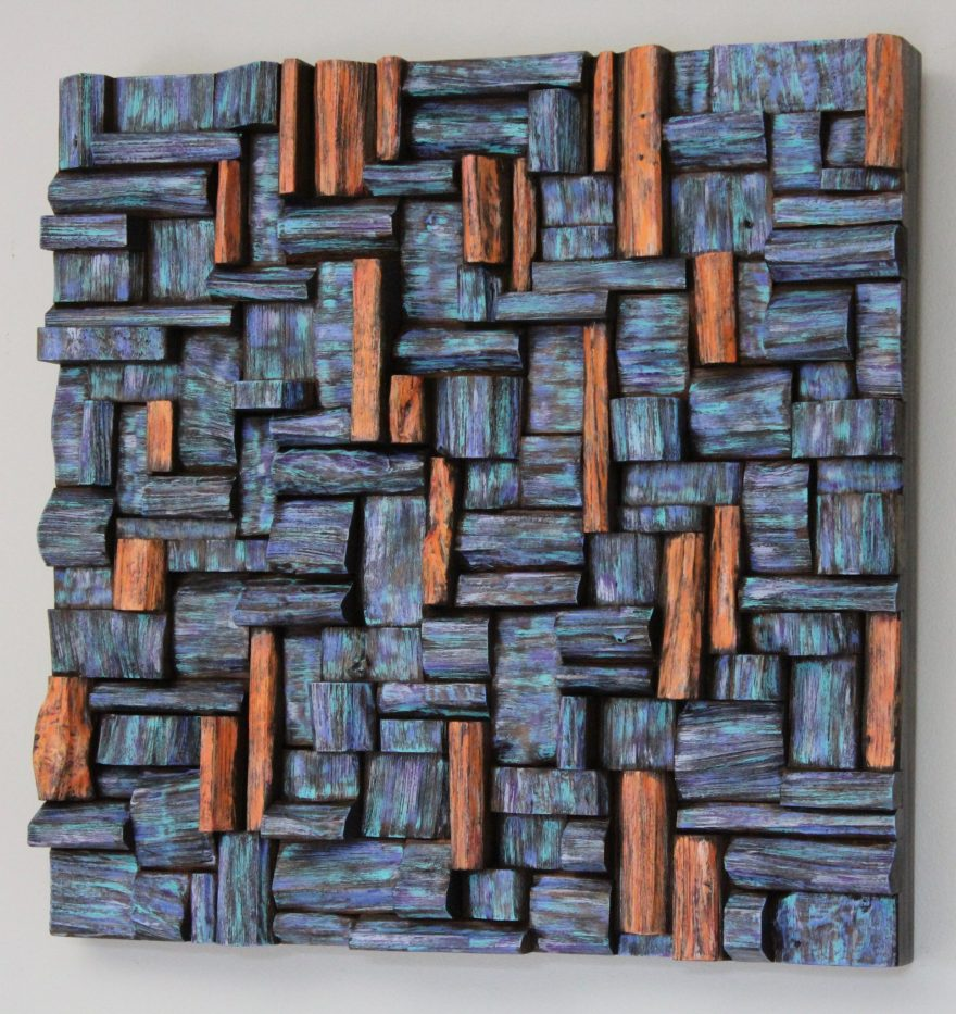 Wall art decor that spikes the imagination in extraordinary way. Exotically colourful abstract composition brings energy and a sense of positivity to your place.