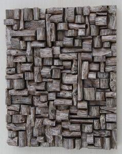 contemporary wall sculpture, wood art, wood blocks assemblage, 3d art, custom wood wall sculpture, Olga Oreshyna art, eccentricity of wood, natural art, zen art