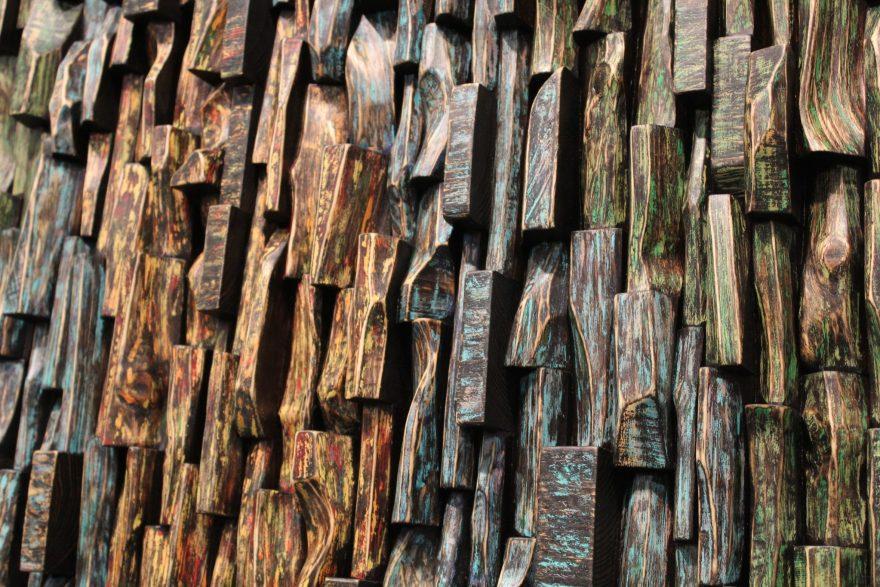 wood art, wood blocks design, wood assemblage