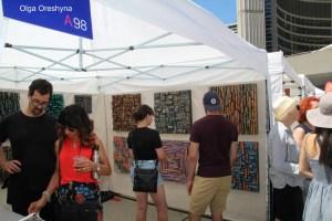 Olga Oreshyna wood art, Toronto Art exhibition, wood blocks panels, wood wall sculpture, contemporary exhibition, art expo Toronto