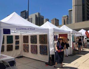 Toronto Artexpo, contemporary art show, wood wall art, wood blocks design, 3d art, Olga Oreshyna, buy art Toronto,