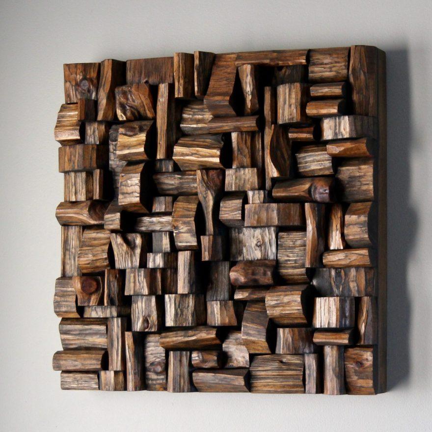 recycled wood art, natural art, eccentricity of wood, wood wall sculpture, wood blocks design, wood assemblage, wood art, eco art