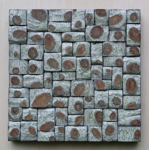 """Organic modern style, Abstract wall art """"Daisy Twist"""", unique combination of richly textured surfaces and intricate shapes formations, pleases the eyes and holds the attention."""