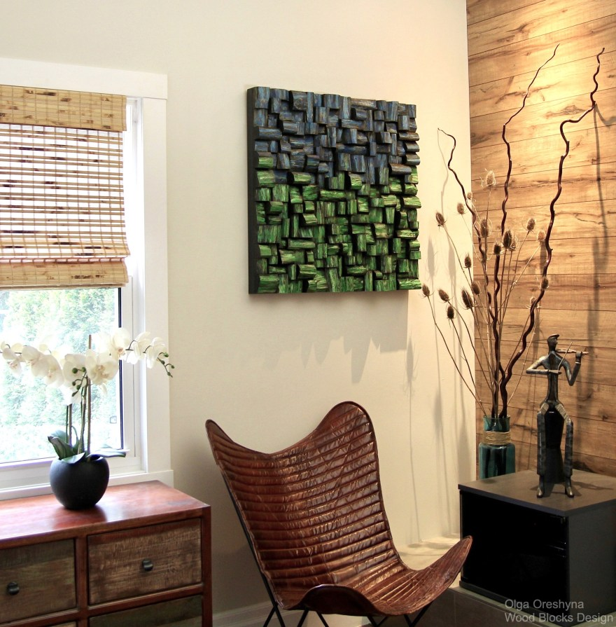 Acoustic wood wall art is an impressive combination of unique contemporary design and high acoustic performance