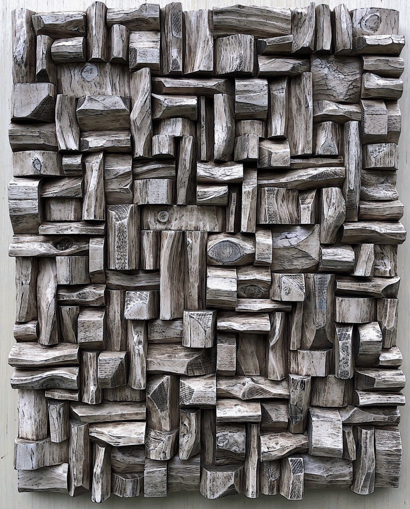 Olga Oreshyna wood wall sculpture