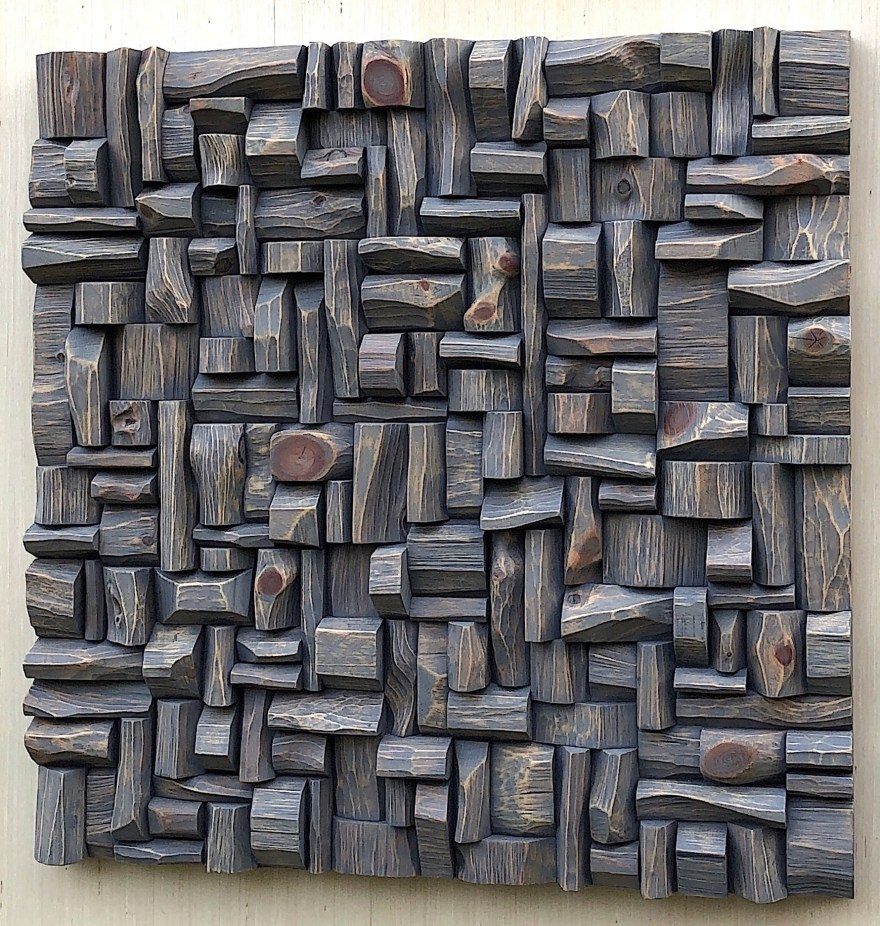 Wood Wall Sculpture, Art Diffusive Panel