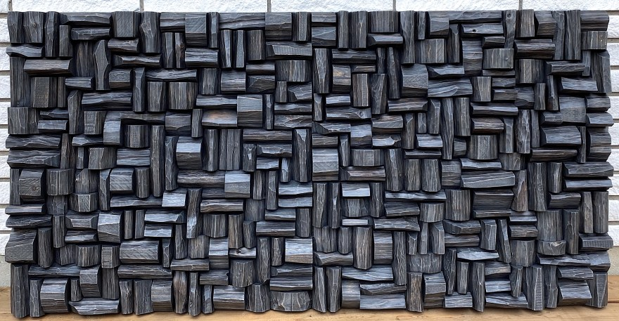 modern wood wall sculpture