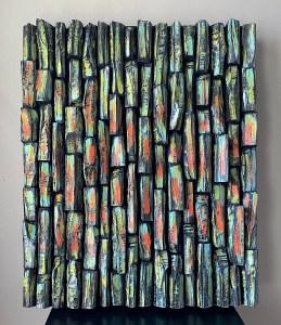 contemporary art, wood wall sculpture