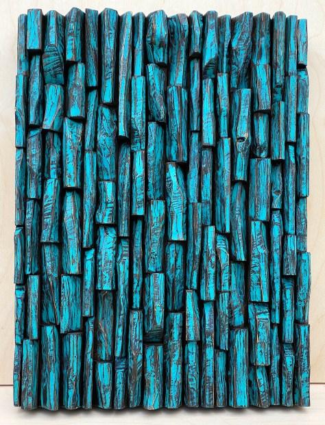 Modern wood wall sculpture