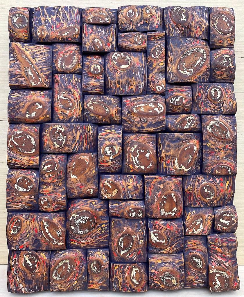 organic modern style, wood wall sculpture