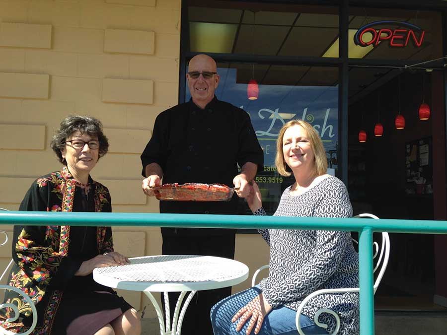 First Selectman Visits Deli Delish & Catering