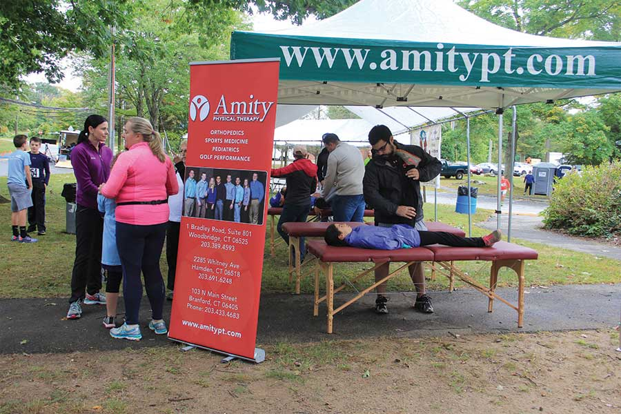 Amity Physical Therapy Preps Runners at Recent Woodbridge Road Race