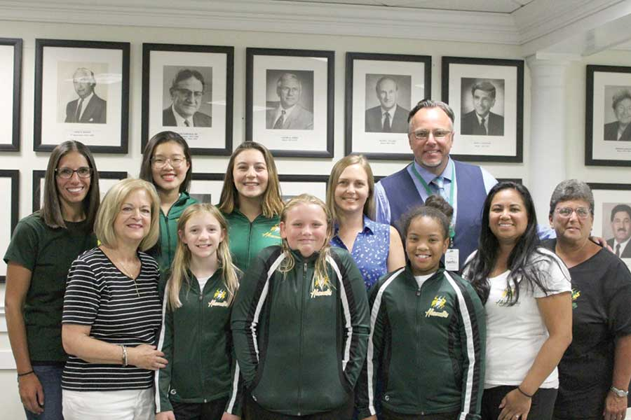 Heronettes Head Coach Receives Proclamation By Hamden's Mayor Leng