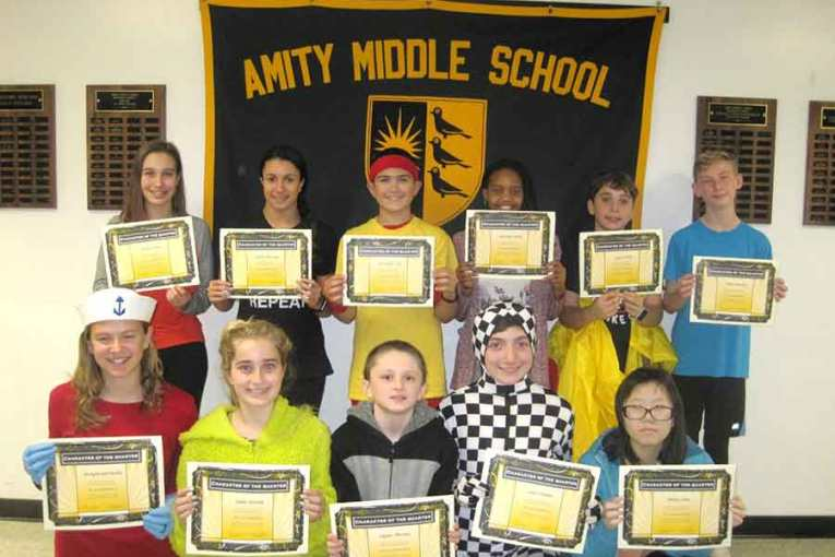 Amity Middle School-Bethany Campus Character of the 1st Quarter Award