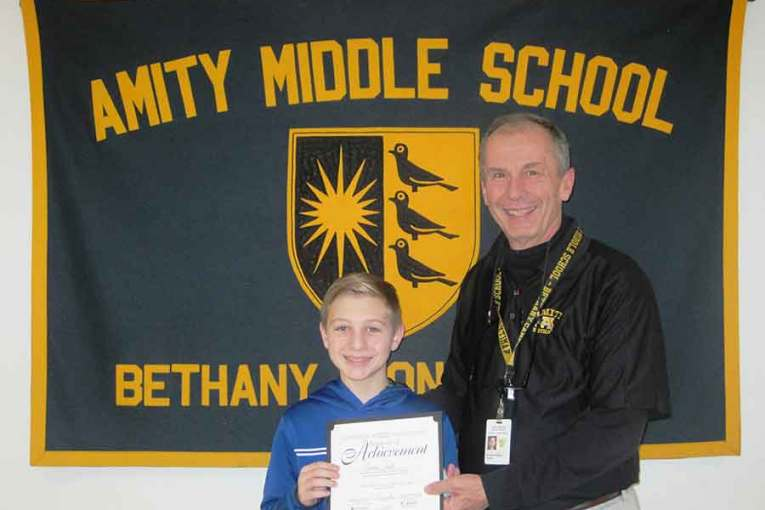 Landon Smith Receives The Prudential Spirit of Community Awards Certificate of Achievement