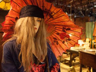 Female Mannequin with Umbrella