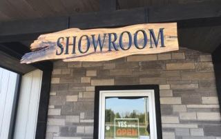 showroom live edge sign
