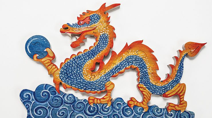 painting a chinese dragon
